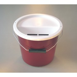 Burgundy Charity Money Collection Box/Bucket