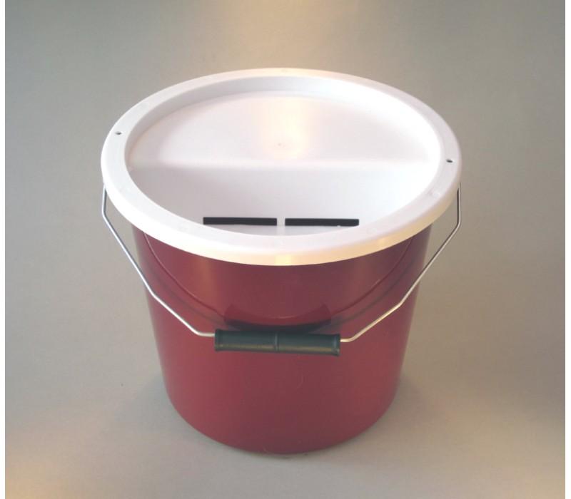 Burgundy Charity Money Collection Box/Bucket