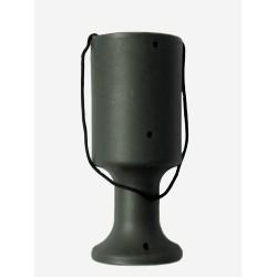 Dark Green Handheld Charity Collection Money Tin/Pot/Box