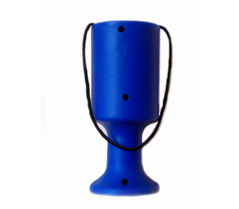 Blue Handheld Charity Collection Money Tin/Pot/Box