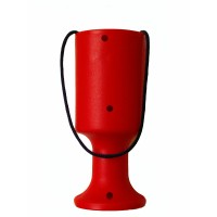 Red Handheld Tin/Pot/Box