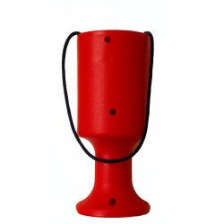 Red Handheld Charity Collection Money Tin/Pot/Box