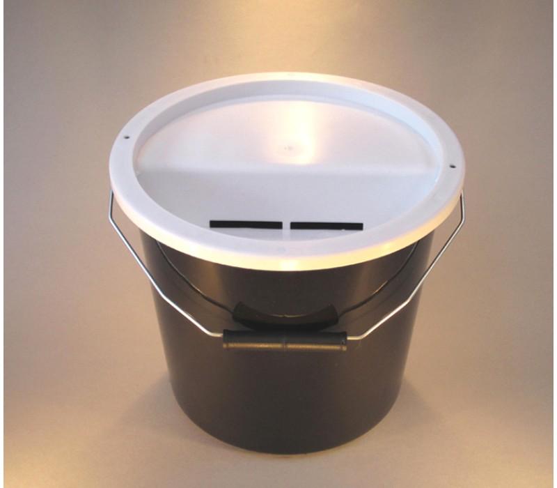 Black Charity Money Collection Box/Bucket
