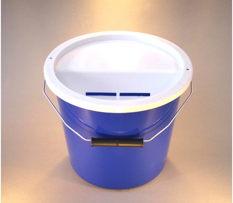 Blue Charity Money Collection Box/Bucket