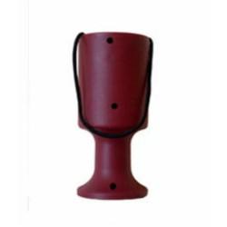 Burgundy Handheld Charity Collection Money Tin/Pot/Box