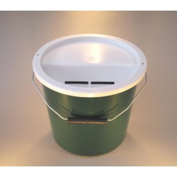 Dark Green Charity Money Collection Box/Bucket