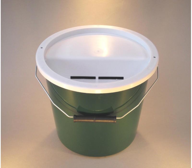 Dark Green Charity Money Collection Box/Bucket