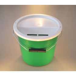 Green Charity Money Collection Box/Bucket