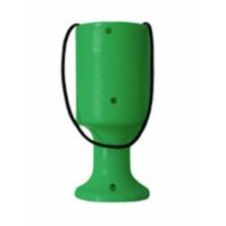Green Handheld Charity Collection Money Tin/Pot/Box
