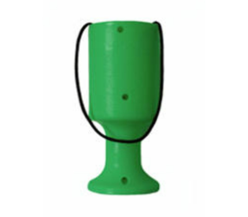 Green Handheld Tin/Pot/Box