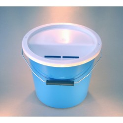 Light Blue Charity Money Collection Box/Bucket