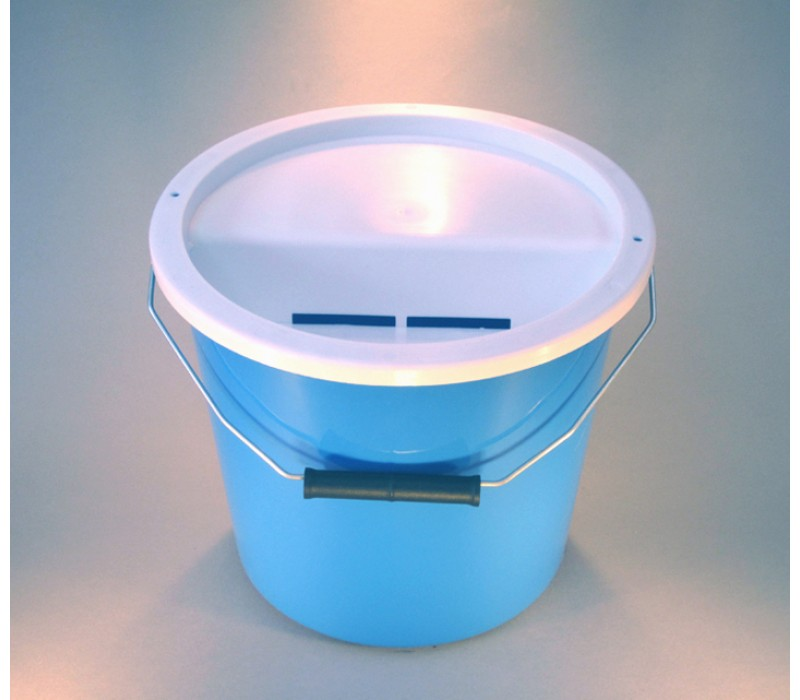 Light Blue Charity Money Collection Box/Bucket