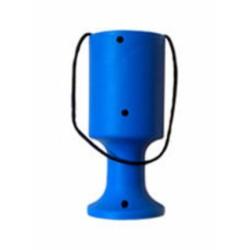 Light Blue Handheld Charity Collection Fundraising Money Tin/Pot/Box