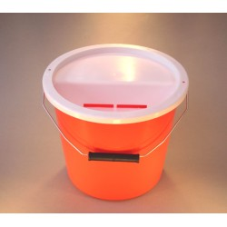 Orange Charity Money Collection Box/Bucket