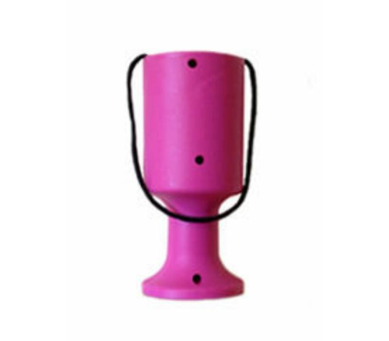 Pink Handheld Charity Collection Money Tin/Pot/Box
