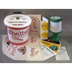 Charity Collection Tin /pot labels