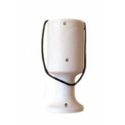 White Handheld Charity Collection Money Tin/Pot/Box