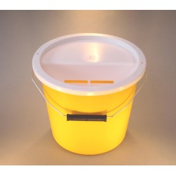 Yellow Charity Collection Box