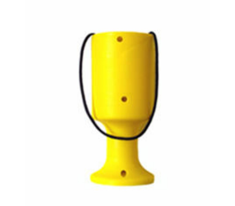 Yellow Handheld Charity Collection Money Tin/Pot/Box